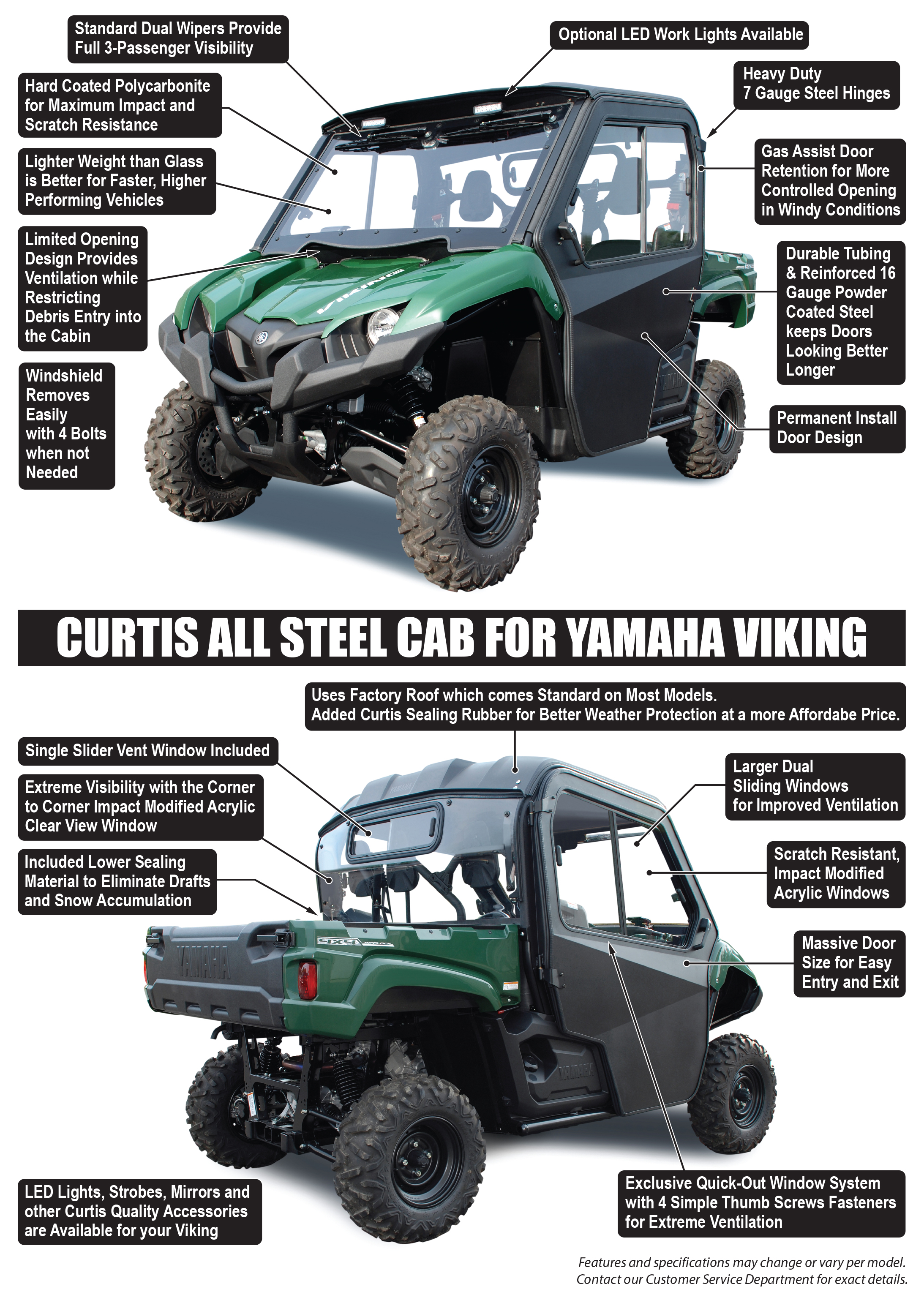Cab System For Yamaha Viking